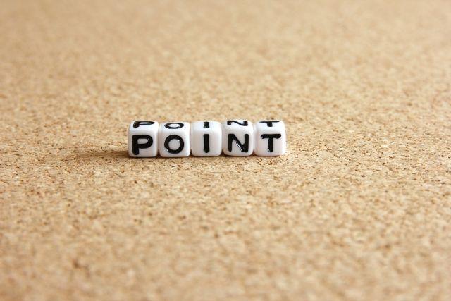 pointと書かれた小さなブロック